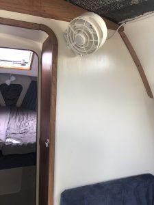 Boat cabin fan